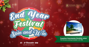 Spin and Win End Year Logam Mulia Festival