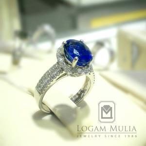 cincin berlian wanita dg blue sapphire arw rkr603113
