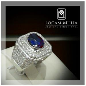 cincin berlian pria dg blue sapphire ulmc rk 1405