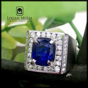 cincin berlian pria dg blue sapphire sdmc rc8001058 tltl