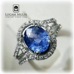cincin berlian wanita dg blue sapphire ulw 0125 dnst