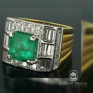 cincin berlian pria dg emerald hkmc rk kn85 tlel