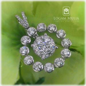 liontin berlian wanita arl p602135 sstt