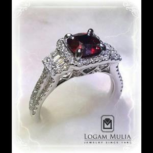 cincin berlian wanita dg ruby crw sd mj2250gr lnnn