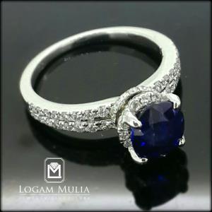 cincin berlian wanita dg blue sapphire crw sd 20054 slde