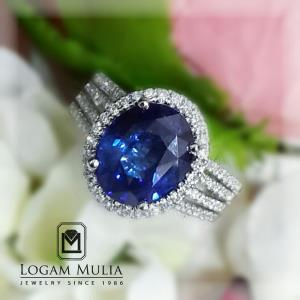 cincin berlian wanita dg blue sapphire dvw e178356 llss