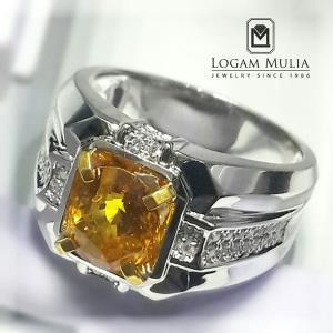 cincin berlian pria dg yellow sapphire dvmc e178397 dsdt