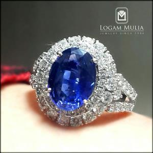 cincin berlian wanita dg blue sapphire crw sd mj3310r tnln