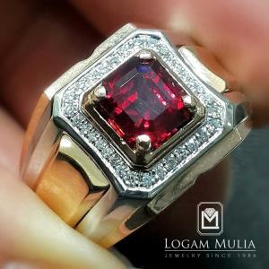 cincin berlian pria dg ruby dvmc rms3525 edln