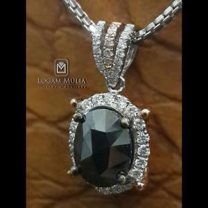 liontin berlian wanita batu opal dvl.sp973 snld 20095334091