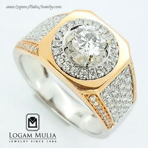 cincin berlian pria 1 karat surabaya