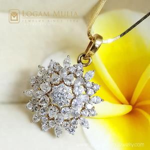 liontin berlian wanita emas ull.6811.0 edlt 18035640312