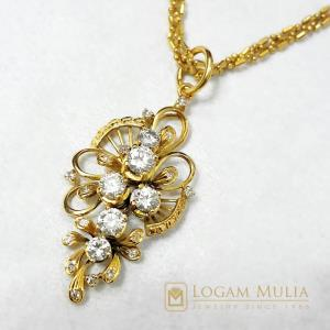 liontin berlian wanita emas xl.hk.22k sdes 18035649312