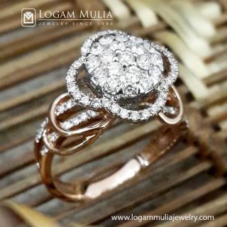 cincin berlian wanita dvw.rff8194a sled 13094342956