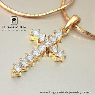 liontin berlian wanita hkl. salib ddt 14011543051