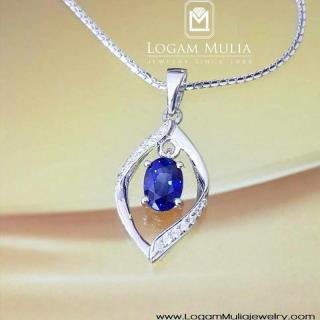 liontin berlian wanita blue sapphire pjl.sp5280 lss 14012842239