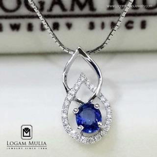 liontin berlian wanita blue sapphire pjl.sp5285 esd 14015537411