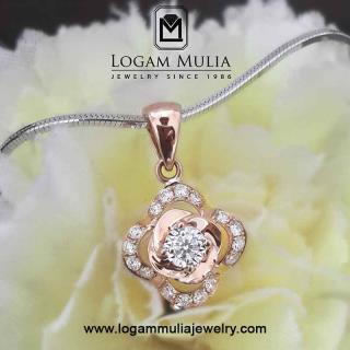 liontin berlian wanita dvl.dx1679 ttt 23100610959