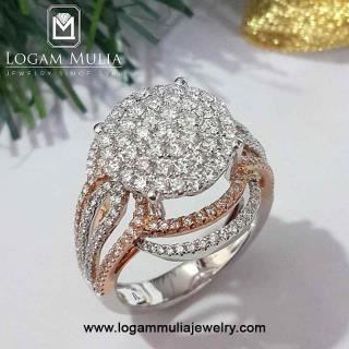 cincin berlian wanita amw.r003b dldt 27120912490