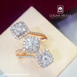 cincin berlian wanita dvw.rff8185 dlnn 19015332791