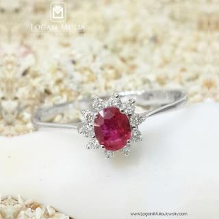 cincin wanita batu ruby pjw.rr1970 tsn 04010750697