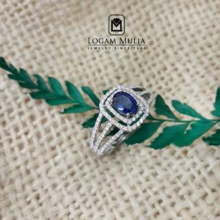 cincin berlian wanita batu safir pjw.r7248 sdsl 04011223369