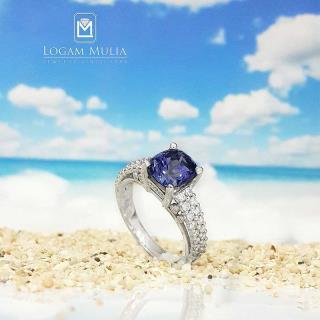 cincin berlian wanita batu safir crw.sd.mj2222r tess 01101115984