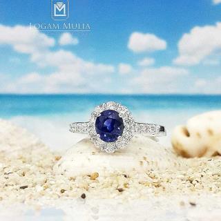 cincin berlian wanita batu safir pjw.sr6289 sdte 01101850981
