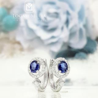 anting berlian wanita batu safir pja.se4502 ttd 02095305800